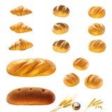 Prodotti del pane Immagini Stock Libere da Diritti