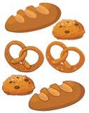 Prodotti del pane Immagini Stock
