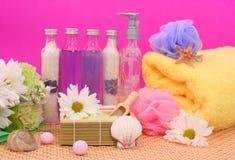 Prodotti della stazione termale e del bagno Immagini Stock