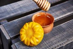Prodotti delle api del miele Immagine Stock