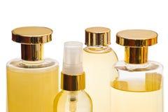 Prodotti di bellezza dorati Immagine Stock
