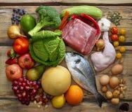 Prodotti di dieta di Paleo Fotografia Stock Libera da Diritti