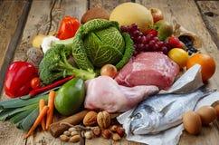 Prodotti di dieta di Paleo Fotografie Stock