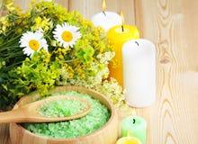 Prodotti di erbe naturali Immagine Stock