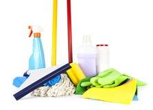 Prodotti di pulizia Immagini Stock