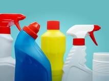 Prodotti di pulizia Immagine Stock
