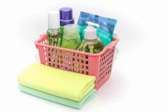 Prodotti di pulizia per pulizia della casa Fotografia Stock Libera da Diritti