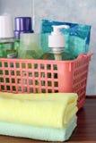 Prodotti di pulizia per pulizia della casa Immagini Stock