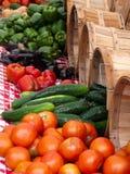 Prodotti di verdure esterni di estate del mercato Fotografia Stock Libera da Diritti