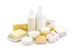 Prodotti lattier-caseario ed uova Fotografia Stock Libera da Diritti