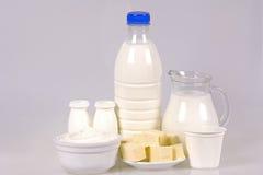 Prodotti lattier-caseario rurali Fotografia Stock