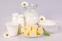 Prodotti lattier-caseario rurali Immagine Stock Libera da Diritti