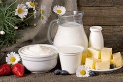 Prodotti lattier-caseario rurali Immagini Stock Libere da Diritti
