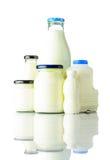 Prodotti lattier-caseario su fondo bianco Immagini Stock