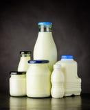 Prodotti lattiero-caseari della latteria Fotografie Stock Libere da Diritti