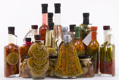 Prodotti marinati: Frutta, verdure, funghi immagini stock