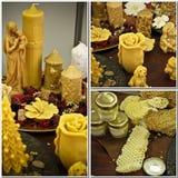Prodotti modellati della cera d'api Fotografie Stock Libere da Diritti