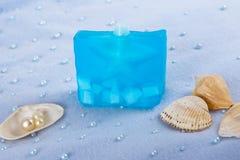 Prodotti naturali di Skincare del sapone Fotografia Stock