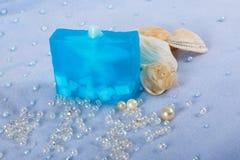 Prodotti naturali di Skincare del sapone Immagine Stock Libera da Diritti