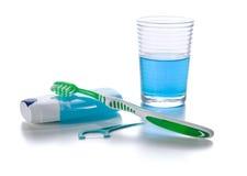 Prodotti orali di cura immagini stock