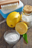Prodotti organici dei pulitori Fotografia Stock
