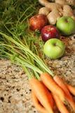Prodotti organici per juicing Fotografia Stock