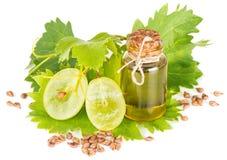 Prodotti per l'olio di semi dell'uva Fotografia Stock