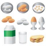 Prodotti per la prima colazione. Fotografia Stock