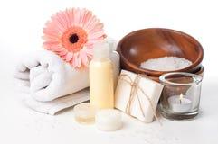 Prodotti per la stazione termale, la cura del corpo e l'igiene Immagini Stock Libere da Diritti