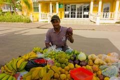 Prodotti tropicali da vendere su Bequia Fotografia Stock