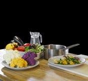 Prodotti vegetariani, cibo sano, alimento sano, acqua pulita, fotografia stock
