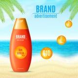 Prodotto del cosmetico di protezione di Sun Immagini Stock