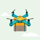 Prodotto di consegna del quadcopter del fuco illustrazione vettoriale