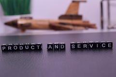 Prodotto e servizio dei blocchi di legno immagini stock libere da diritti