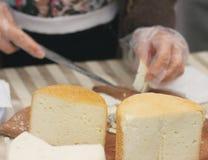 Prodotto ecologico naturale del formaggio Fotografia Stock Libera da Diritti