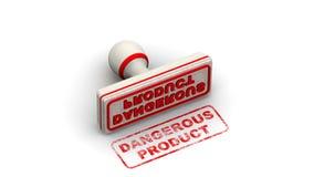 Prodotto pericoloso Il bollo lascia un'impronta illustrazione di stock