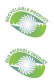 Prodotto riciclabile illustrazione vettoriale