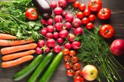 Prodotto-verdure fresche di vegetables Fondo variopinto delle verdure Vegeta sano Fotografie Stock Libere da Diritti