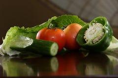 Prodotto-verdure fresche di vegetables Verdure grezze Fondo variopinto delle verdure Immagini Stock