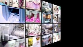 Produção da droga - colagem video estoque