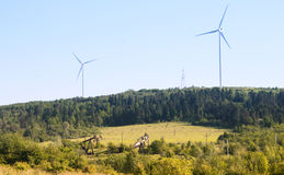 Produção da energia elétrica Fotos de Stock