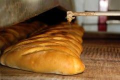 Produção da fábrica do pão Fotografia de Stock
