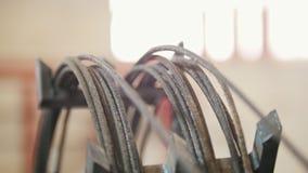 Produção das hastes de fibra de vidro - reforço composto filme