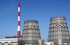Produção de electricidade Imagem de Stock