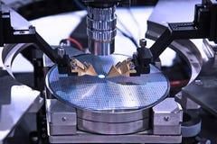 Produção de microchip Imagem de Stock Royalty Free
