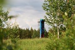 Produção de petróleo e gás foto de stock royalty free