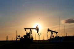 Produção de petróleo e gás fotos de stock
