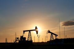 Produção de petróleo e gás fotos de stock royalty free