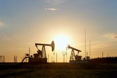 Produção de petróleo e gás fotografia de stock