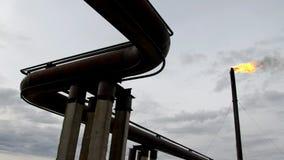 Produção de petróleo em Sibéria ocidental vídeos de arquivo